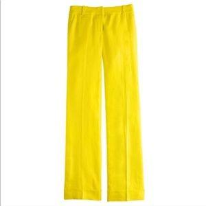J. CREW linen Cafe Trouser Pants Sz 10 Tall
